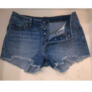 Levi's 501 Cutoff Denim Distressed Shorts